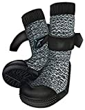Trixie 19447 Pfotenschutz Walker Socks, XL, 2 St., schwarz/grau