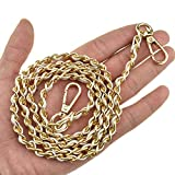 Get HAHIYO Mini Purse Chain Strap Slim Wide 8mm for LV Length 39.4 inches Extra Thick 4.5mm White Leather Gold Hardware for Shoulder Cross Body Sling Handbag Wallet Comfortable Flat Metal Strap 1 Pack Just for $10.99