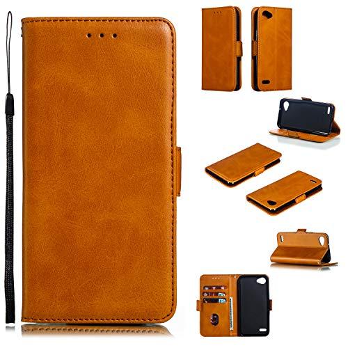 Schutzhülle für LG Q6 / Q6+ (Q6 Plus), mit Kartenschlitzen [Kartenfächer] [Magnetverschluss] Schutzhülle aus Leder für LG Q6 / M700N