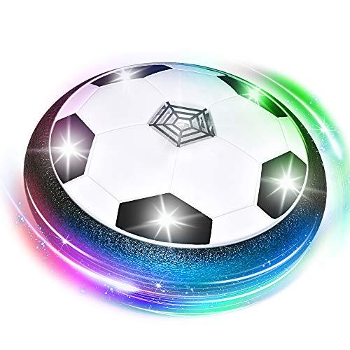 Easony Geschenk Junge 3 4 5 6-12 Jahre,Spielzeug Junge 3-12 Jahre Fussball für Jungen ab 3-12 Kinderspielzeug ab 3 4 5 6 7 8 Jahren Indoor Fußball Geschenk für Jungen Airhockey Schwarz