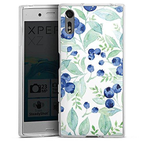 DeinDesign Sony Xperia XZ Coque en Silicone Étui Silicone Coque Souple Blueberry