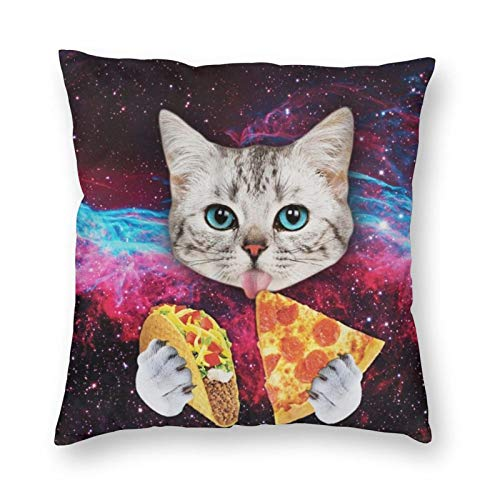 antoipyns Taco Cat Pizza.Jpg 3D Printed Pattern Square Cushiondecorative Pillow Case Home Decor Square 18x18 Inches Pillowcase/Living Room/Car/Bedroom