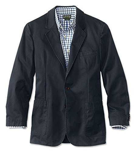 Orvis Men's Washed Casual Sport Coat, Navy, 40