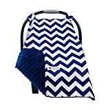 Carseat Canopy Cover for Babies - Soft Minky...
