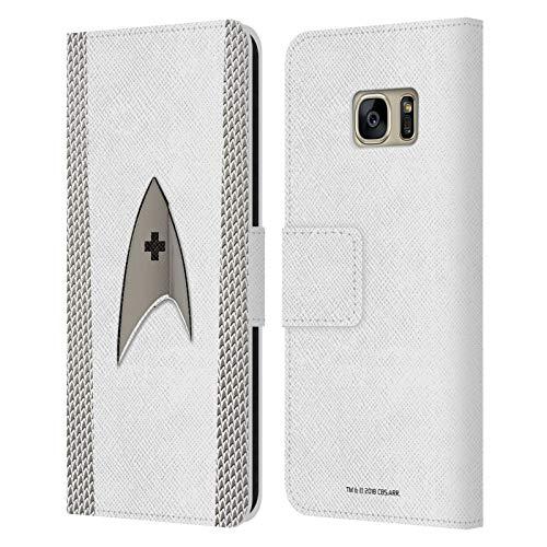 Head Case Designs Ufficiale Star Trek Discovery Medico Uniforme Cover in Pelle a Portafoglio Compatibile con Samsung Galaxy S7