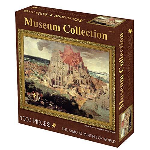 1000 Puzzleteile, Sternenhimmel/Aprikosenblüte Vollzweig/Perlmuttblüte/Amor Weltberühmtes Gemälde Lernspielzeug für Kinder 0302-P (Color : E)