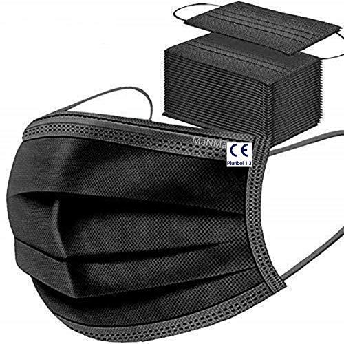 MaNMaNing Protección Pack 200 Unidades Negro 20200702-MANING-X200