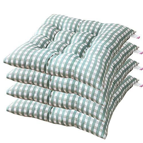 AGDLLYD Cuscino Sedia 40x40,Cuscini da Sedia Trapuntati,Morbido Cuscino per Sedia Cuscino Sedia Cucina da Giardino 40x40x7cm,Disponibile in Tanti Colori Diversi (Verde,4 Pezzi)