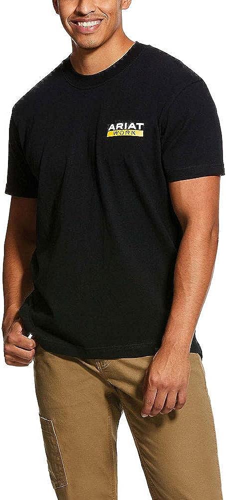 ARIAT Men's Rebar Cotton Roughneck Ranking TOP7 Graphic Strong price T-Shirt