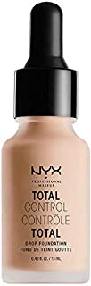 NYX PROFESSIONAL MAKEUP Total Control Drop Foundation, Light, 0. 43 Fluid Ounce
