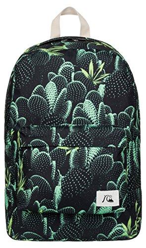 Quiksilver Mochila Night Track Print Backpack Negro Bp Slow Life Anthracite Talla:44 x 29 x 13 cm, 22 Liter
