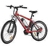 Elektrofahrräder 36V 8AH Lithium Batterie Faltrad MTB Mountainbike E-Bike 21 Speed Fahrrad Intelligence Elektrofahrrad (Rot)