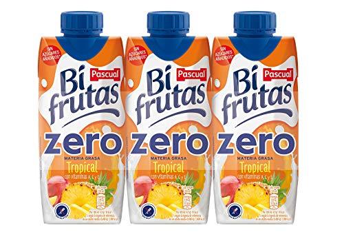 Bifrutas Zero Tropical Bebida Refrescante con Leche y Zumo de Frutas - 3 x 330 ml