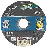 Wolfcraft 1683999 (L) disco de corte para metal, granel PACK 1, plata, ø 115mm