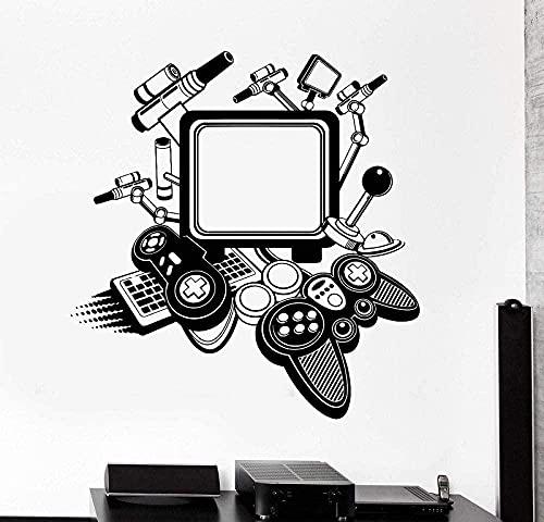 57x60cm Vinilo de la pared de la pared de la pared PC Máquina de juegos de la computadora Gadget Pegatinas Game Hall Internet Cafe Etiqueta de la pared Decoración de la habitación