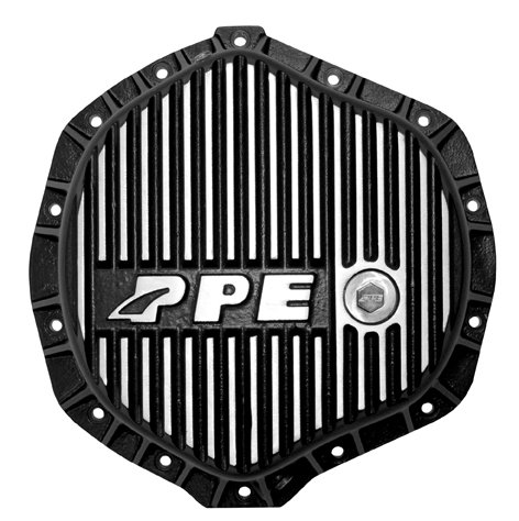 PPE HEAVY DUTY REAR ALUMINUM DIFFERENTIAL COVER BRUSHED GM & DODGE W/ 11.5