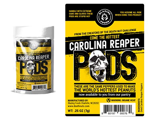 Carolina Reaper Peppers Dry Whole Pepper Pods Hottest Peppers in the World by Blazing Foods (1)