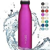 """720°DGREE Edelstahl Trinkflasche """"milkyBottle"""" - 350ml - Perfekt für Kinder, BPA-Frei, Auslaufsicher, Kohlensäure"""