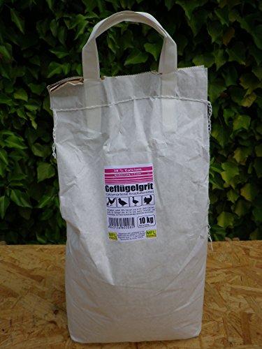MFL Edderitz Hühnergrit Geflügelgrit Futterkalk Kalkgrit Korn 1-3 mm Tragetasche mit 10 kg (1x 10 kg)