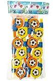 Schnooridoo 12 x Trillerpfeife Pfeife mit Band Kinder Fußball Fan Party Kindergeburtstag Give Away