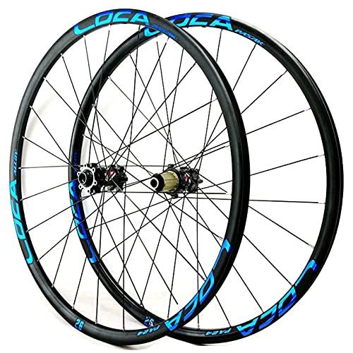 Zatnec Ciclismo Ruedas Ruedas Bicicleta Montaña 26/27.5/29 Pulgadas Freno Disco Volante Cassette 7/8/9/10/11/12 Velocidad Llantas Delantera Y Trasera Eje Pasante 1600g (Color : E, Size : 27.5inch)