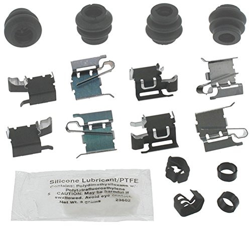 ACDelco 18K1838X Professional Front Disc Brake Caliper Hardware Kit with Clips, Seals, Bushings, and Lubricant