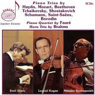 Piano Trios by Haydn, Mozart, Beethovan, Tchaikovsky, Shostakovich, Schumann, Saint-Saens, Borodin - Piano Quartet by Faure - Horn Trio by Brahms
