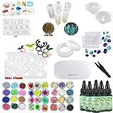 Resina Epoxi UV Transparente Cristal con 13 Moldes de Silicona para...