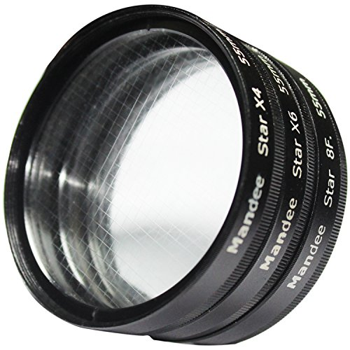 MANDEE 67Mm +4 Points Star Filter + 6 Points Star Filter + 8 Points Star Filter For Canon Nikon