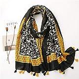 N / A Bufanda de invierno para mujer otoño primavera España estilo azul rojo leopardo patrón patchwork bufanda, estilo 2
