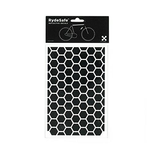RydeSafe Reflective Decals - Hexagon Kit - Large (Black)