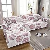 Wohnzimmer elastischer Sofabezug elastischer Aquarell Marmordruck Rutschfester All-Inclusive Sofabezug Sessel A5 3 Sitzer