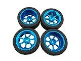 OUYAWEI 4Pcs Alloy Rims Tires RC Car Wheels 1/18 WLtoys A959-B A979-B A959 A969(Combination 1)