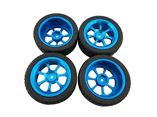 ACHICOO Modellautoteile, 4-teilige Leichtmetallfelgen und -Reifen RC-Autoräder für 1/18 A959-B A979-B A959 A969 Kombination 3