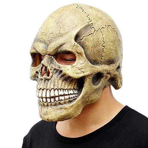 XIN Máscara Mascarada Máscara de baile Cráneo Máscara de horror de Halloween Mueca de látex Divertidas decoraciones de abrigo de fiesta - Máscara negra divertida Máscara de demonio demonio