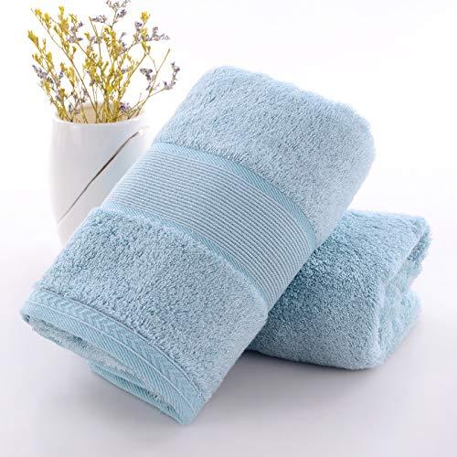 Crhm-handdoek Absorbens Thuis Bamboe Houtskool Was Gezicht Handdoek Katoen Eenvoudig Te Gebruik Handdoek, Lichtblauw Een Sectie, 76X34Cm Is Zeer Geschikt Voor Reizen, Fitness, Zwemmen, Yoga