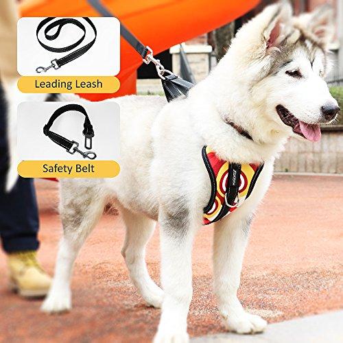 MUGENTER Adjustable Dog Safety Vest Harnesses