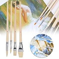 絵画用ブラシ、木製絵筆画材、学校用テキスタイルペイントガッシュ油絵