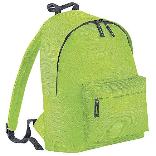 BagBase Fashion Colours Sac à dos junior vert Lime Green/Graphite grey taille unique