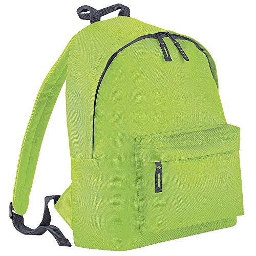 BagBase Fashion Colours Sac à dos junior vert Lime Green/Graphite grey taille unique