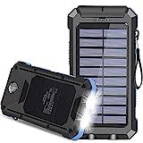 Solar Charger, 30000mAh USB C Portable Solar...