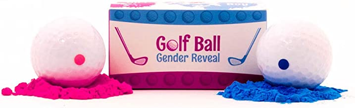 USA Gender Reveal Exploding Golf Balls - Is it a Boy or a Girl - Pink And Blue Powder Included, Sex Reveal Party - Pink Girl + Blue Boy Authentic Family Fun - Jack and Jill Party