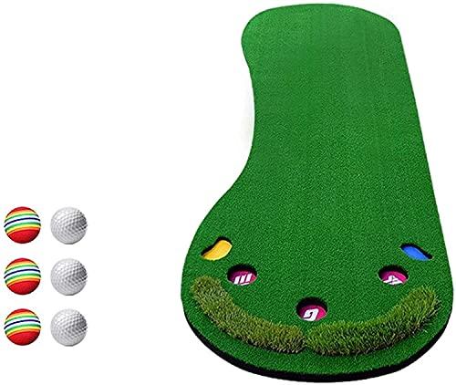 WXking Golf-Praxis-Accessoire, Golf-Putting-Trainer Indoor Mini-Übungsdecke Künstliches Gras Grüner Outdoor-Sport 90cm * 300cm Geschenk für Zuhause, Büro, Gebrauch im Freien (Color : Green)