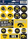WinCraft NCAA University Iowa Hawkeyes Vinyl Sticker Variety Set, 5' x 7' Inch Sheet