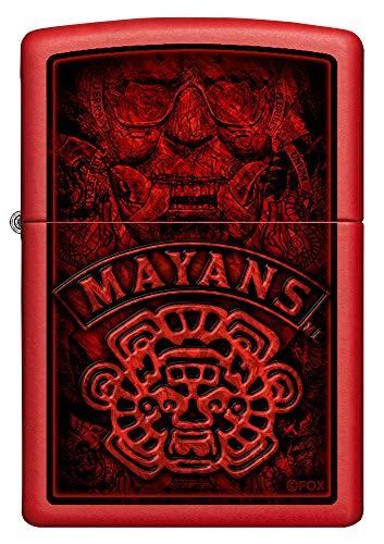 Imagen del productoZIPPO Mayans MC - Mechero de Gasolina Recargable, Color Rojo Mate
