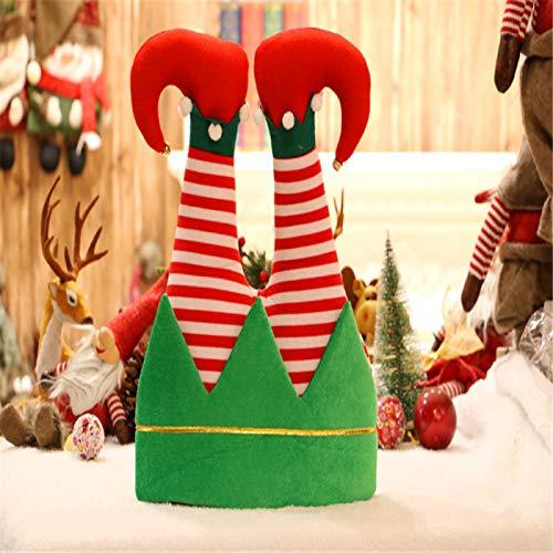 Kongtou Sombrero de Pap Noel, patas de Pap Noel pegadas en la chimenea, disfraz de Navidad