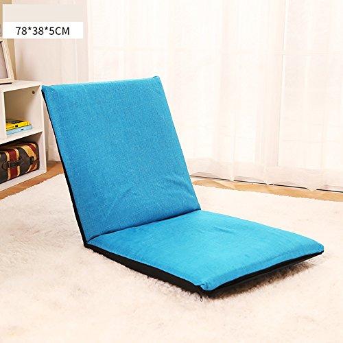MILAYA JI Bin Shop® Schlafzimmer Falt Schlafsofa Rückenlehne Stuhl Einzelne Stuhl Kissen Pastoralen Stil Boden Sofa Stuhl + (Farbe : 5#, größe : 78 * 38 * 5cm)