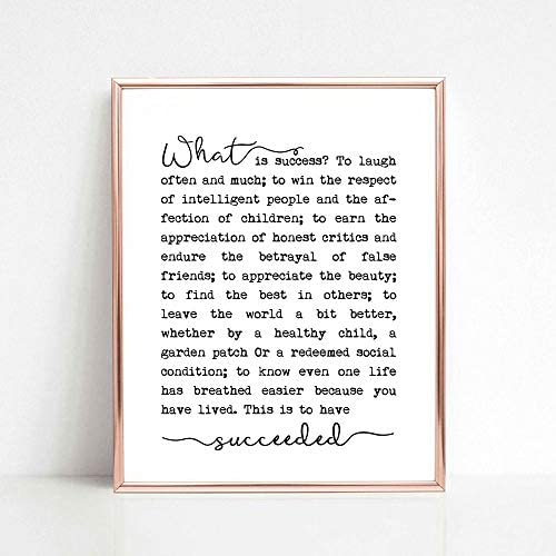 What is Success Print Ralph Waldo Emerson Poem Success Quote Inspirational Print Literary Poster product image