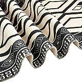 Bateruni Geometrisch Tischläufer, Grau Modern Schwarz Weiß Tischwäsche Matte, Faltenfrei rutschfest Tischband Dekoration für Esszimmer Party Urlaub 35x180cm - 5