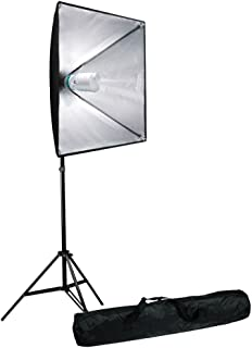 LimoStudio 700W Photo Video Studio Soft Box Lighting Kit, 24 x 24 Inch Dimension Softbox Light Reflector with Photo Bulb, Photography Studio, AGG2767